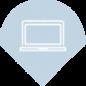 picto ordinateur bleu